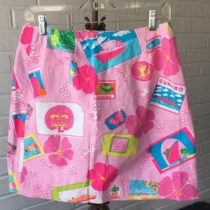 Vintage Lilly Pulitzer Junk on the Trunk Skirt 6